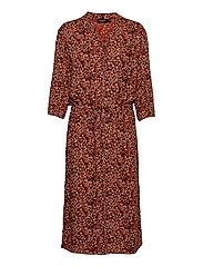 SL Zaya Dress - ZAYA ANIMAL PRINT AUBURN
