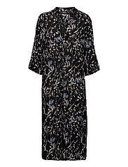 SL Zaya Dress - BLACK WINE PRINT