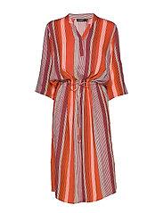 SL Zaya Dress - TANGERINE TANGO STRIPE
