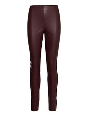 SL Kaylee PU Leggings - RUM RAISIN