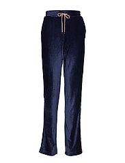 Anella Velvet Pants - PEACOAT NAVY