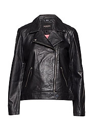 Maeve Leather Jacket LS - BLACK