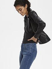 Soaked in Luxury - SLMaeve Leather Jacket LS - skinnjackor - black - 5