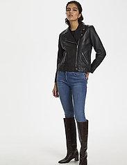 Soaked in Luxury - SLMaeve Leather Jacket LS - skinnjackor - black - 6