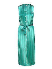 Vivi Dress - PEPPER GREEN STRIPE