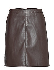 SL Tamara PU Skirt - CHOCOLATE TORTE