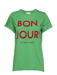 Bon Jour Tee - GRASS GREEN