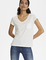 Soaked in Luxury - SLColumbine Tee - t-shirts - broken white - 5