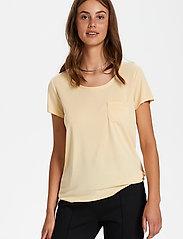 Soaked in Luxury - SLColumbine Tee - t-shirts - cornhusk - 0