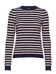 Sx Menika Striped Jumper - PEACOAT NAVY