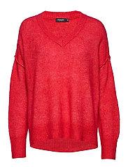 SL Angel V-Neck Pullover LS - HIGH RISK RED