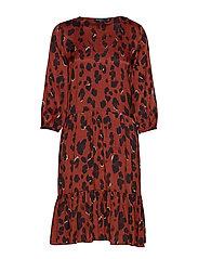 SL Maxwell Dress - BURNT HENNA LEOPARD