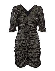 SL Alexi Dress - FOREST NIGHT ZEBRA PRINT