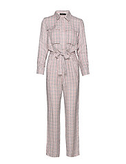 SLKaia Jumpsuit - ANTIQUE WHITE CHECK PATTERN