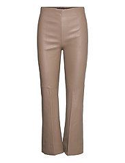 SLKaylee PU Kickflare Pants - CHOCOLATE CHIP
