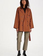 Soaked in Luxury - SLChicago Short Trenchcoat - trenchcoats - rubber - 3
