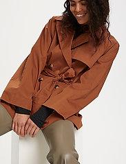 Soaked in Luxury - SLChicago Short Trenchcoat - trenchcoats - rubber - 6