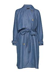 SLNuna Trenchcoat - LIGHT BLUE DENIM