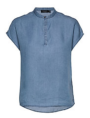 SLKesia Bell Top - MEDIUM BLUE DENIM