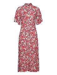 SLIndiana Rafina Shirt Dress SS - MULTIFLORAL CARDINAL