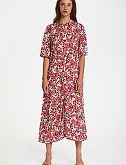 Soaked in Luxury - SLIndiana Rafina Shirt Dress SS - sommarklänningar - multifloral cardinal - 3
