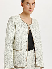 Soaked in Luxury - SLBanks Jacket LS - quilted jackets - viol print whisper white - 5