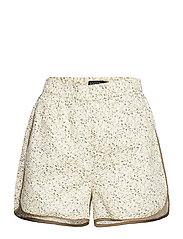SLBanks Shorts - VIOL PRINT WHISPER WHITE