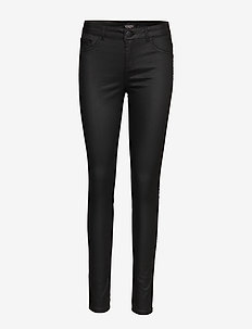 Leia coated Jeggings - slim fit spodnie - black