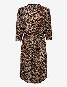 SL Zaya Dress - midi kjoler - beige leopard