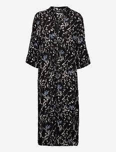 SL Zaya Dress - vardagsklänningar - black wine print
