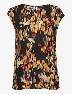 SLZaya Top - kortärmade blusar - dizzy floral print black