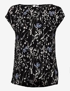 SLZaya Top - kortärmade blusar - black wine print