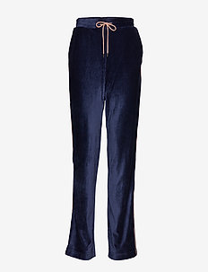 Anella Velvet Pants - spodnie na co dzień - peacoat navy