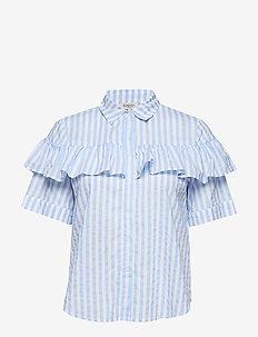 Line Shirt ss - lyhythihaiset paidat - vista blue stripe