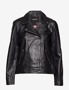 Maeve Leather Jacket LS - kurtki skórzane - black