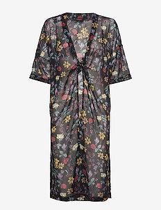 Sx Molise Kimono - kimono's - black with flowers