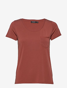SLColumbine Tee - basic t-shirts - barn red