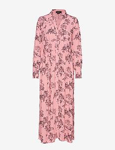 SL Mimi Dress - SEA PINK WITH BLACK PRINT