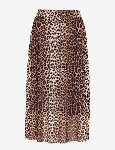SL Easton Skirt - PECAN BROWN LEOPARD PRINT