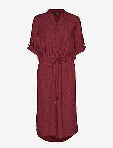 SL Sandie Zaya Dress - ZINFANDEL WITH BLACK DOTS