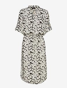 SL Sandie Zaya Dress - BLACK FLOWER PRINT