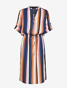 SL Sandie Zaya Dress - MULTI STRIPE PRINT