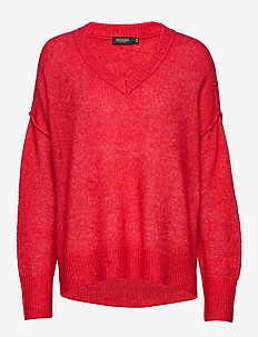 SL Angel V-Neck Pullover LS - HIGH RISK RED