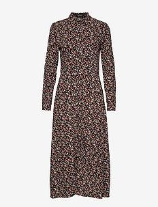 SL Alva Oda Shirt Dress - BLACK MINI FLOWERS