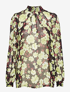 SL Carlie Aggie Top LS - NILE FLOWER PRINT