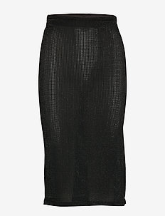 SLMya Skirt - BLACK LUREX ON BLACK