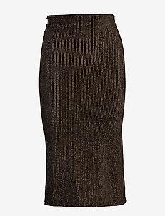 SLMya Skirt - COBBER LUREX ON BLACK