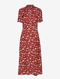 SLZaldana Shirt Dress Print - FIRED BRICK PRINT
