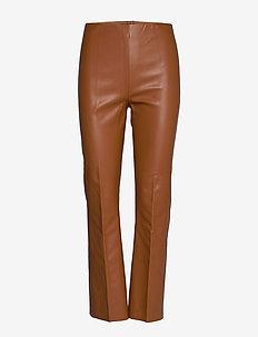 SLKaylee PU Kickflare Pants - læderbukser - mocha bisque