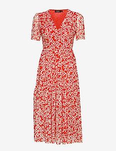 SLAldora Dress - TANGERINE TANGO FLOWER PRINT